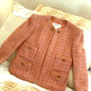 Chanel Wool Mohair Tweed Blazer Jacket size 34
